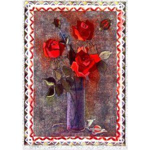 0348 Red Roses in Vase