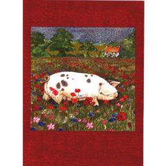 3666 Pig in Poppy Field