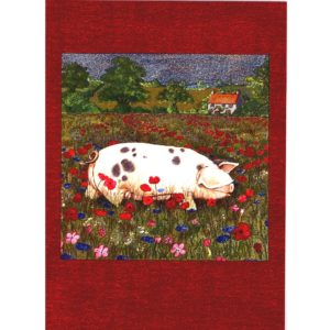 3666 Pig in Poppy Field