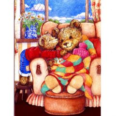 3703 Teddy with Hot Water bottle