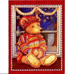 3728 Teddy Bear in Window