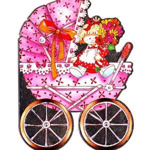4012 Baby Girl – Pink Pram