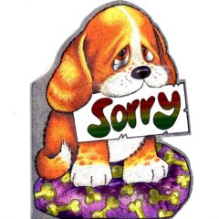 4056 Puppy with Tear – Sorry