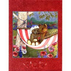 6640 Two Teddy Bears in Hangmat