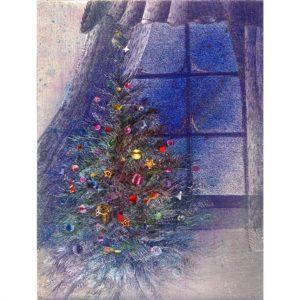 6801 Christmas Tree at Window