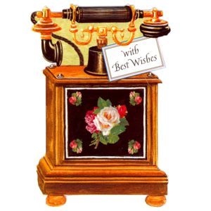 AM03 Antique Telephone – Roses