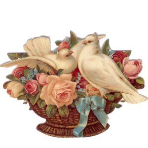 GE18 Doves & Roses