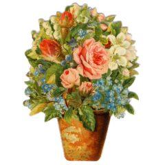 GE39 Pot of Flowers