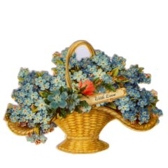 """GE48 Forget Me Not Basket """"With Love"""""""