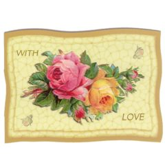 """GE67 Rose Pillow """" With Love"""""""