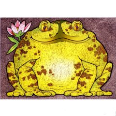 P1300 Frog with Pink Flower