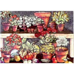 P1340 Country Flowers in Pots