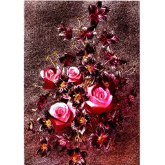 P1369 Pink Roses & Flowers