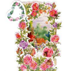 C-3D704 House Garden Roses