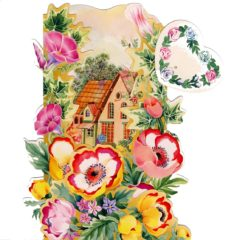 C-3D705 House Garden Flowers