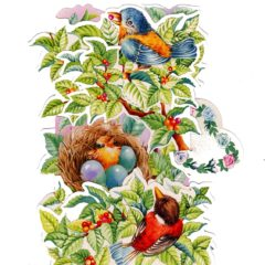 C-3D708 Birds Nest Eggs Tree