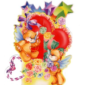 C-3D712 Teddy Heart Presents