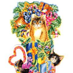 C-3D751 Cat & Presents