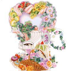 C3D754 Heart, Coffeetime  & Teatime
