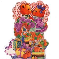 C-3D759 Engagement Teddies Roses