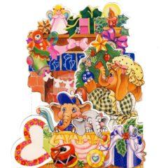 C-3D852 Elephants & Presents