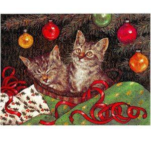 0719 Kitten under the Tree