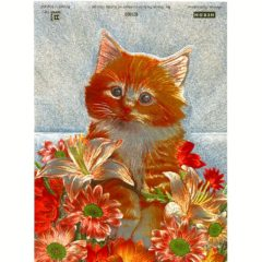 1020 HB Ginger Cat with Flowers