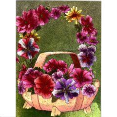 3718 Floral Trug