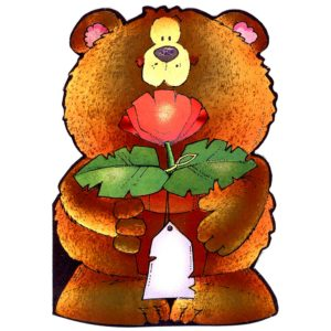 4002 Teddy with Red Rose