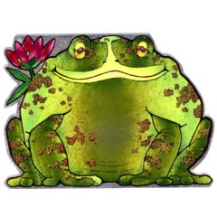 4048 large Frog with Flower
