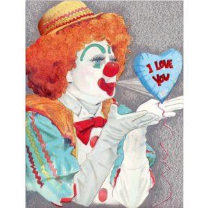 6014 Clown w. Balloon – I Love You