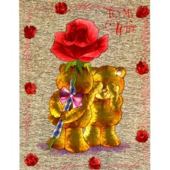 6394 Teddy with Red Rose