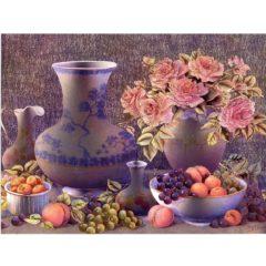 6502 Porcelain Fruit & Roses (Print)