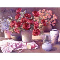6541 Pots w. Roses & Flowers