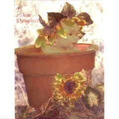 6609 Clay Pot Baby – Sunflower