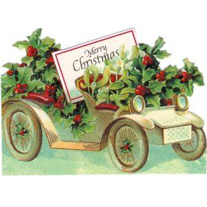 GEC46 Mistletoe & Holly Car